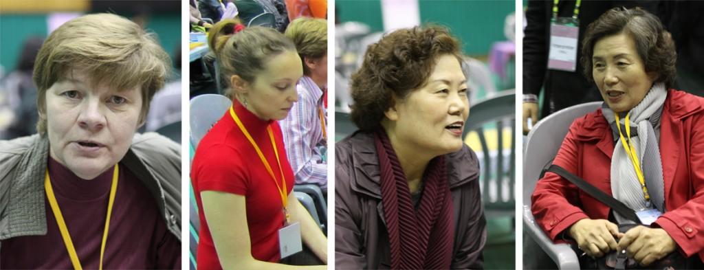 Команда RUSSIA: Маргарита Богданова (Россия), Юлия Рябинина (Россия), Lee Ok Ja (Корея) и Bark Su Dong (Корея)